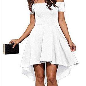 Triangle city white dress